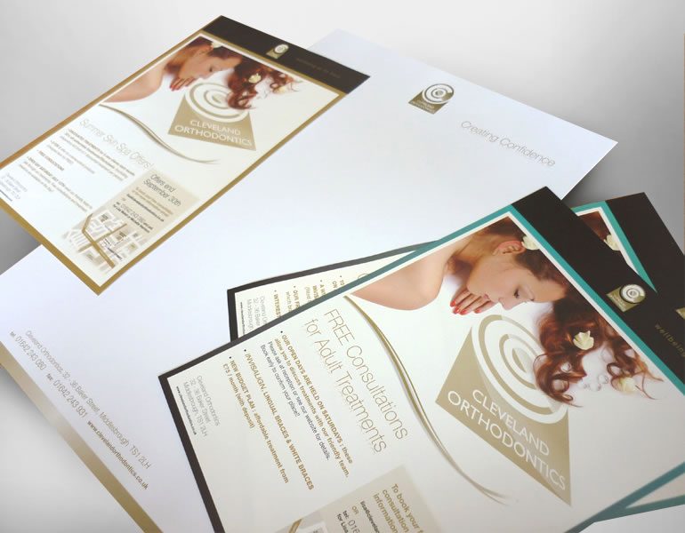 Cleveland Orthodontics Stationary design and marketing literature design