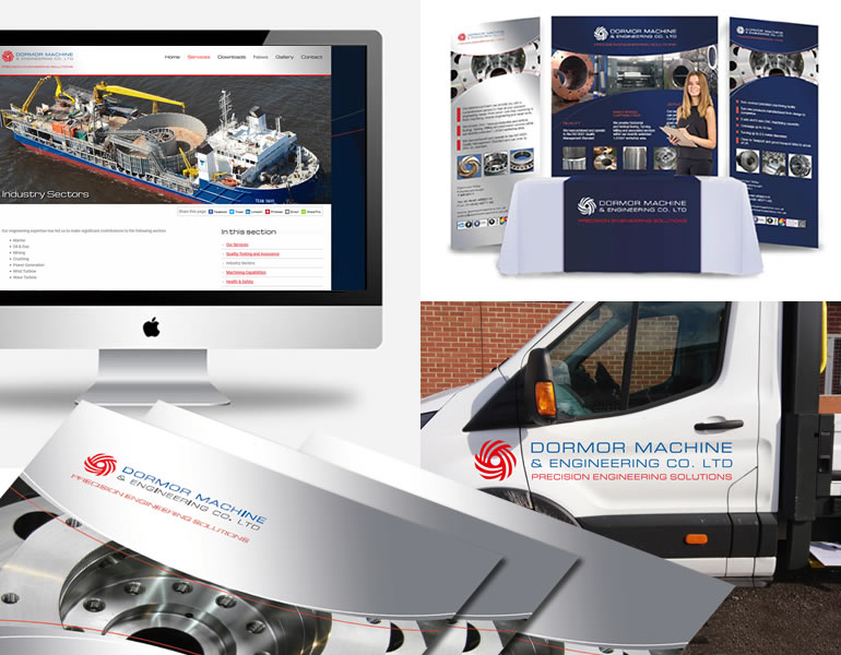 Dormor Machine and Engineering Ltd Logo design, stationery, literature, advertising, signage, display stands, vehicle livery and website