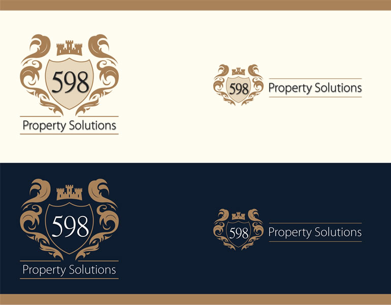 598 Property Solutions Logo design and stationery