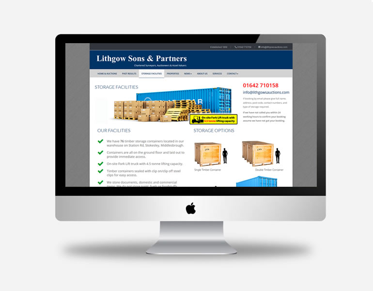 Lithgow Sons and Partners Website with bespoke Content Management System, and email marketing